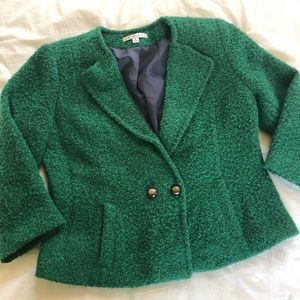 CAbi Ivy Green Boucle Blazer - 8